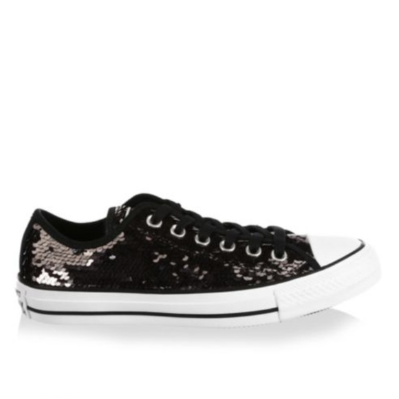 NWT Converse Black Sequin Sneakers Size 13 Womens.  M 5ade15d5daa8f6a6d3ce828d a097f9ee6
